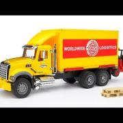 Bruder Toys MACK Granite Worldwide Logistics Container Truck #02819