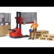 Bruder Toys Bworld Man with Logistics Set #62200