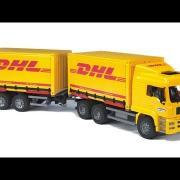 Bruder Toys MAN TGA DHL Truck with Trailer #02784
