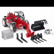 Bruder Toys Manitou Telescopic Loader MLT 633 with Accessories #02126