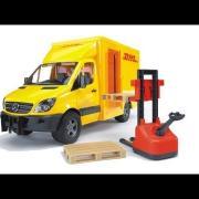 Bruder Toys MB  DHL Sprinter w. Manual Pallet Jack #02534