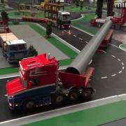 minitruckers.nl Scania V8 8x4 with a long pipe and other trucks - modellenbeurs amsterdam