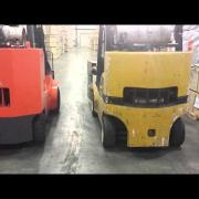 Logistics Team Toyota vs Yale Forklift Noise